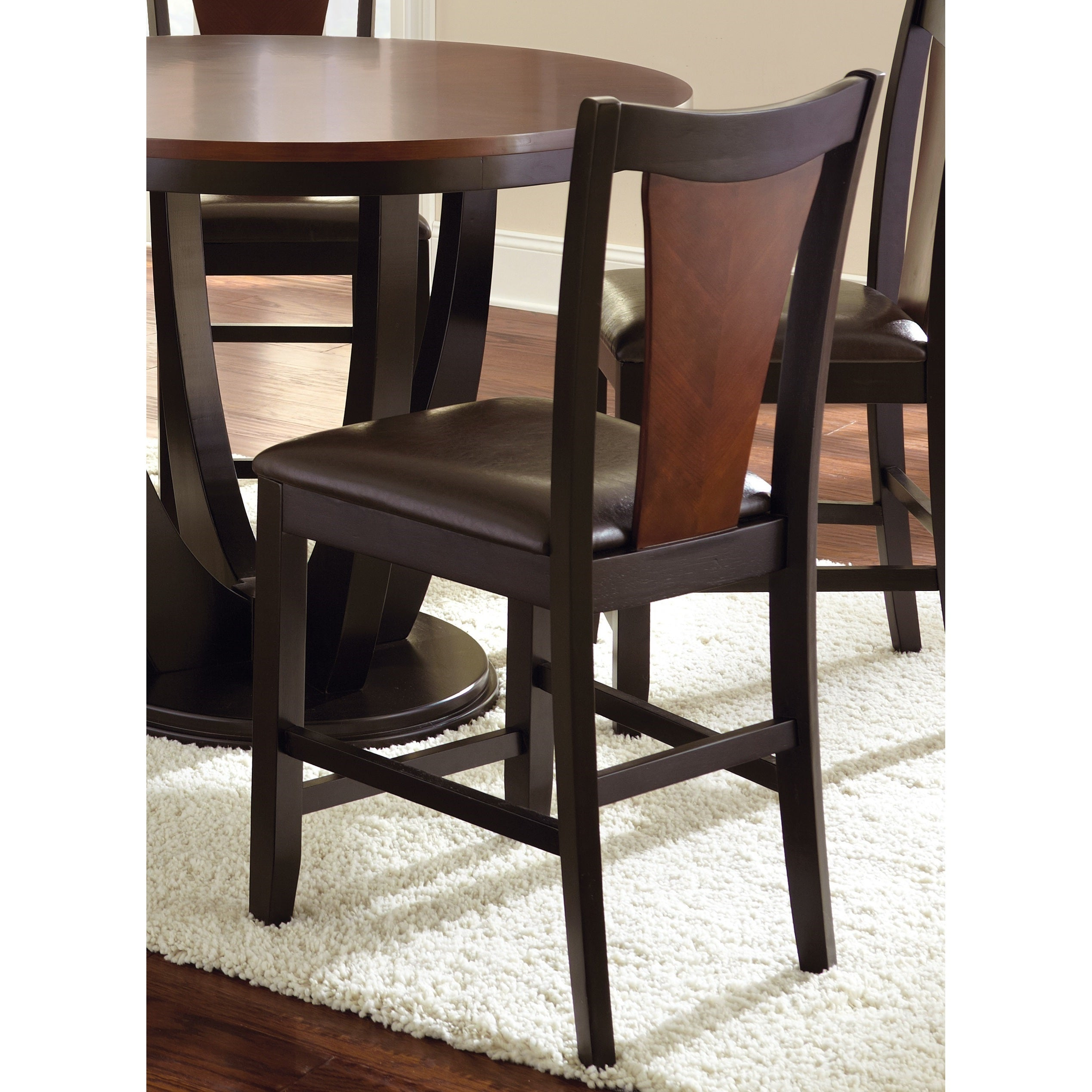 Olivia Counter Height Medium Cherry Chairs (Set of 2) by ...