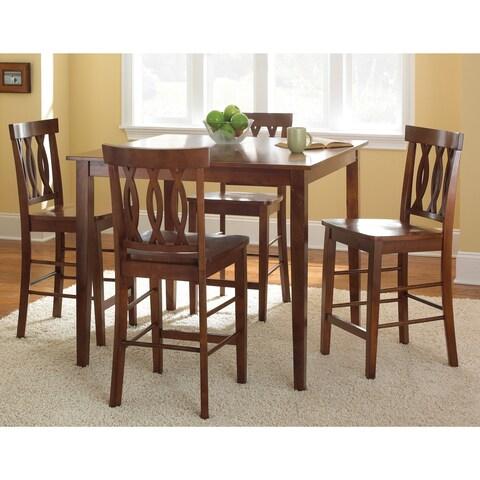 Greyson Living Ridgeway Brown Finish 5-piece Counter-height Dining Set