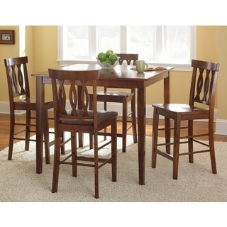 Ridgeway Brown Finish 5-piece Counter-height Dining Set  by Greyson Living