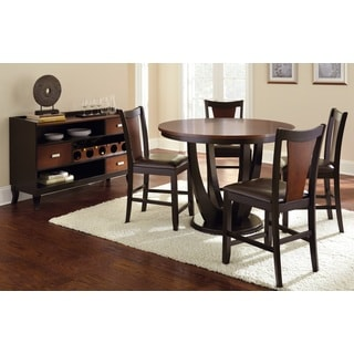 Olivia Two-tone Cherry and Black Counter-height Dining Set  by Greyson Living