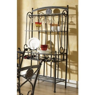 Greyson Living Browning Dark Brown Metal Bakers Rack