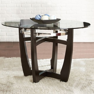 Monoco 48 Inch Round Glass Top Table By Greyson Living