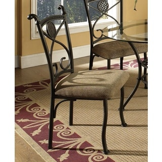 Browning Dark Brown Metal and Beige Dining Chair (Set of 4)  by Greyson Living