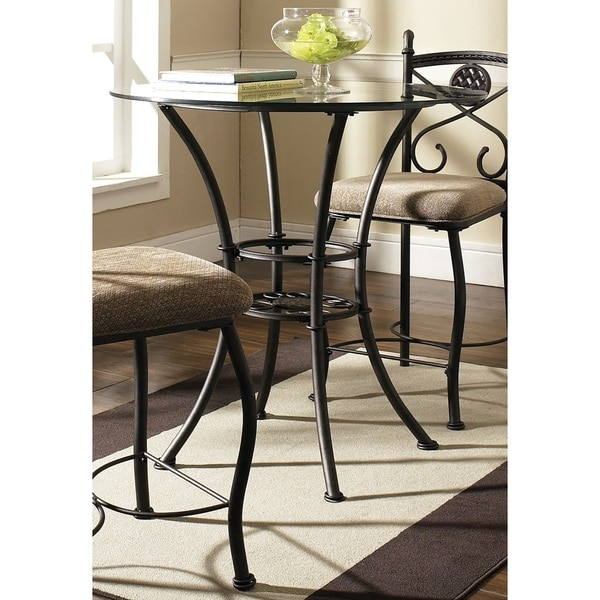 Browning Glass Top Pub Table By Greyson Living