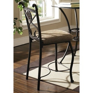 Copper Grove Tentsmuir Counter-height Cushioned Metal Stools (Set of 2)