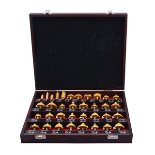 Professional Woodworker 35-piece Router Bit Set with 1/ 4-inch Shank
