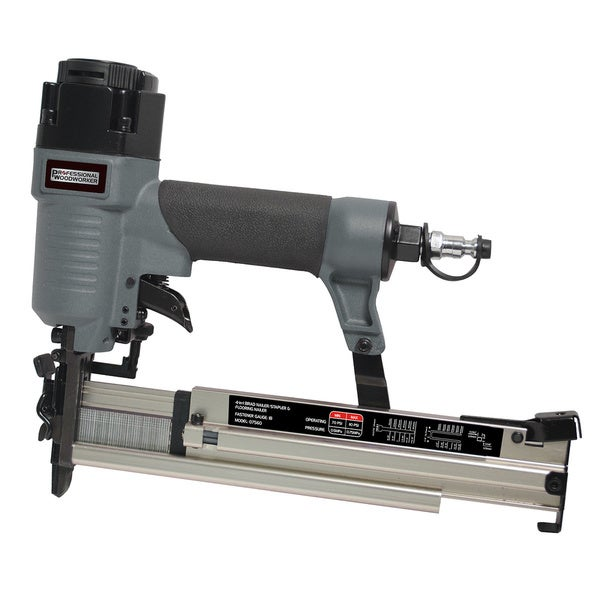 Professional Woodworker 18 Gauge 4 In 1 Pneumatic Flooring Nailer/ Stapler    Free Shipping Today   Overstock.com   16585569
