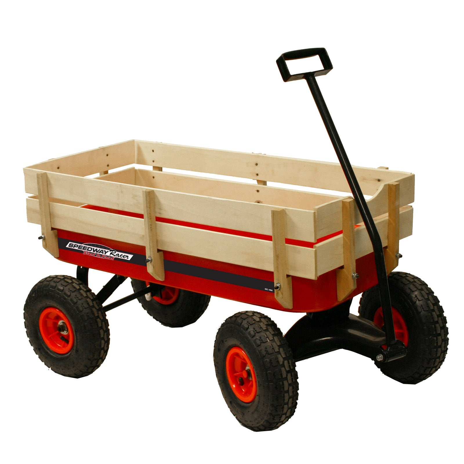 SpeedWay All-terrain Wood and Steel Racer Wagon (All Terr...