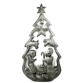 Christmas Tree Nativity Wall Art (Haiti)