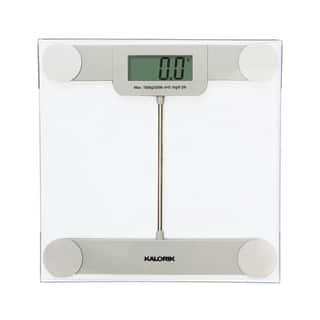 Kalorik Precision Digital Glass Bathroom Scale|https://ak1.ostkcdn.com/images/products/9396831/P16585627.jpg?impolicy=medium