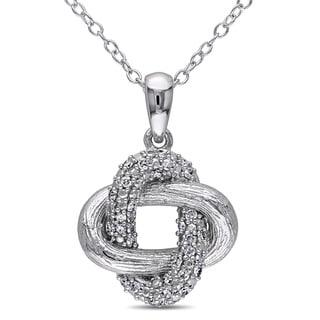 Miadora Sterling Silver 1/6ct TDW Diamond Necklace