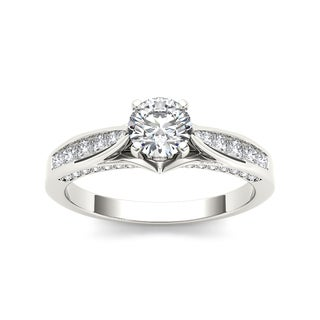 De Couer 14k White Gold 1ct TDW White Diamond Engagement Ring