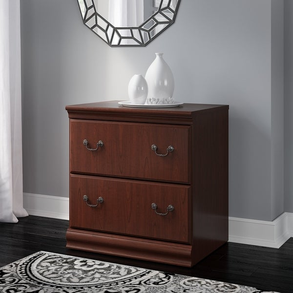 Copper Grove Varna Lateral File Cabinet in Rich Cherry