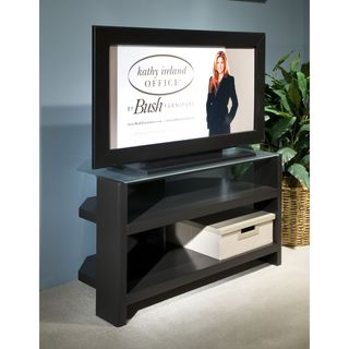 kathy ireland Office Modern Mocha 42-inch TV Stand with Shelves