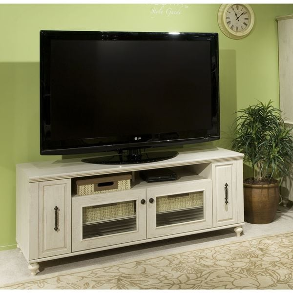 Kathy Ireland Office By Volcano Dusk Tv Stand With Pull Out Media Storage