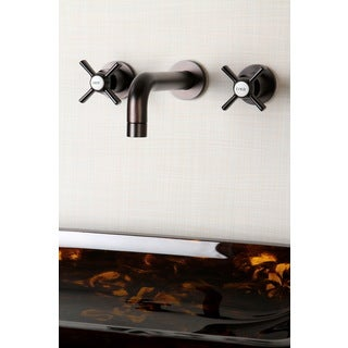 Wall-mount Oil Rubbed Bronze Vessel Bathroom Faucet