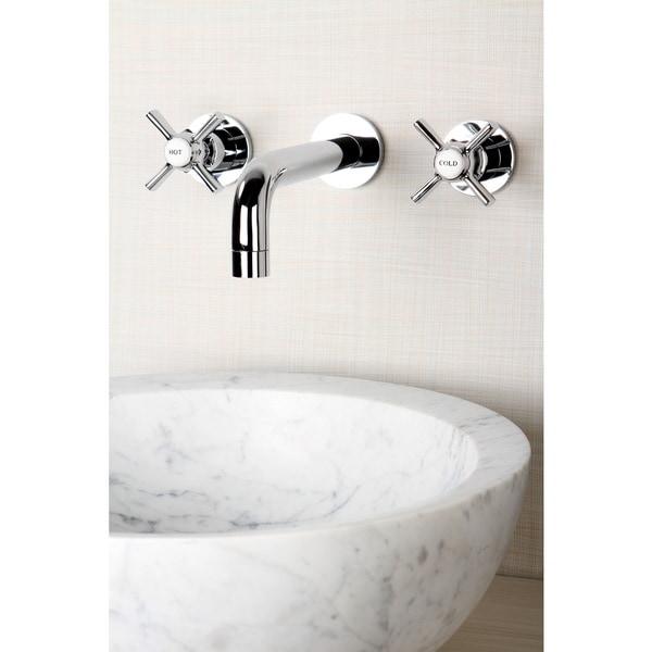 Wall-mount Polished Chrome Vessel Bathroom Faucet