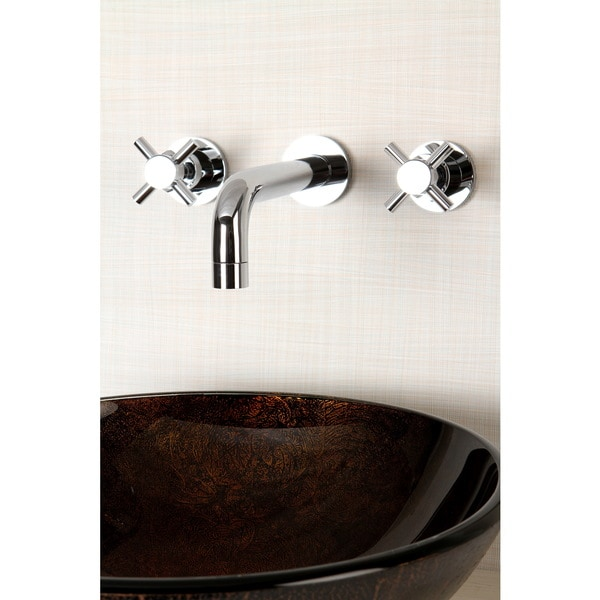 Wall Mount Polished Chrome Vessel Bathroom Faucet