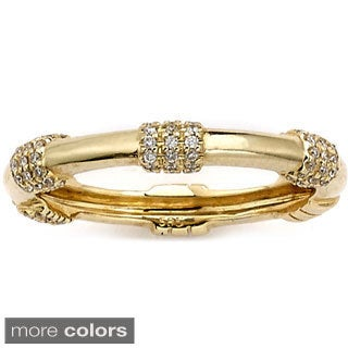 Neda Behnam 14k Gold 1/5ct TDW Diamond Anniversary Stackable Band