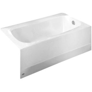 Cambridge White 5-ft Americast Bathtub with Right-hand Drain