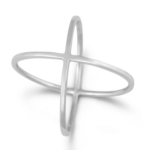 La Preciosa Sterling Silver Criss-Cross Ring