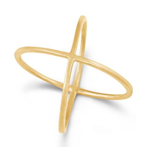 La Preciosa Sterling Silver Criss-Cross Ring