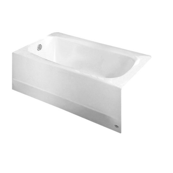 cambridge 5 foot white left drain bathtub free shipping