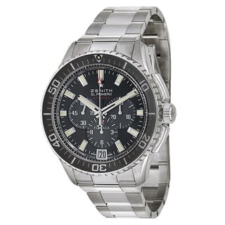 Zenith Men's 'El Primero Stratos Flyback' Stainless Steel Chronograph Telemeter Watch