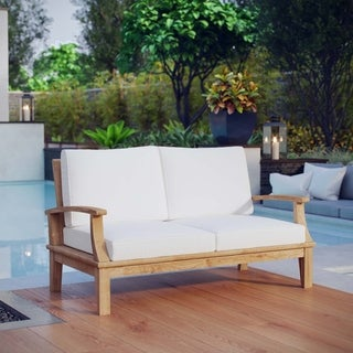 Pier Outdoor Patio Teak Loveseat