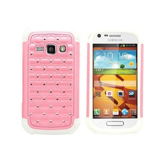 Heavy Duty Hybrid Dual Layer Case with Rhinestones for Samsung Galaxy Prevail 2
