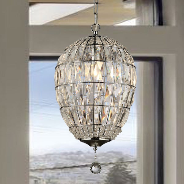 Shop globe crystal chandelier free shipping today overstock globe crystal chandelier aloadofball Images