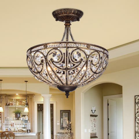 Buy flush mount ceiling lights online at overstock our best drake modern roman chandelier aloadofball