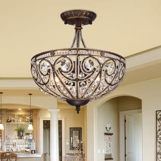Buy flush mount ceiling lights online at overstock our best drake modern roman chandelier aloadofball Gallery
