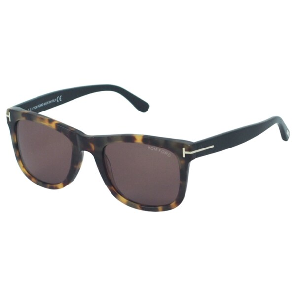 8068ca64b2d Shop Tom Ford TF336 Leo 55J Mens Tortoise Black 52 mm Sunglasses ...