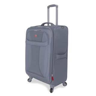 Wenger Lightweight Grey 24-inch Medium Grey Spinner Upright Suitcase