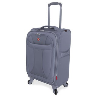 Wenger Lightweight Grey 20-inch Spinner Carry-on Upright Suitcase
