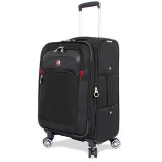 SwissGear Black 24.5-inch Medium Spinner Upright Suitcase - Free ...
