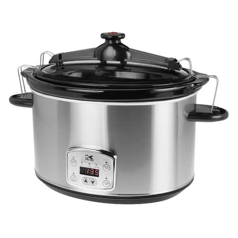 Kalorik Stainless Steel 8-quart Digital Slow Cooker with Locking Lid