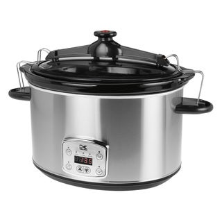 Kalorik Stainless Steel 8-quart Digital Slow Cooker with Locking Lid