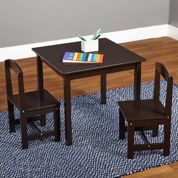 Simple Living Espresso 3 piece Hayden Kids Table and Chair Set O