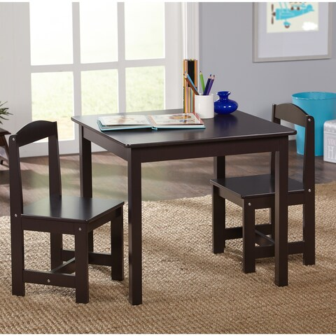 Simple Living Espresso 3-piece Hayden Kids Table and Chair Set