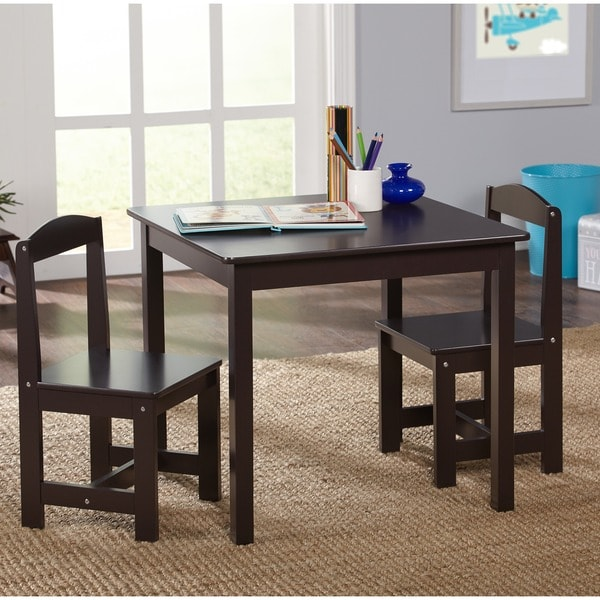 Kids Table And Chairs Set Espresso: Shop Simple Living Espresso 3-piece Hayden Kids Table And