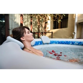 Inflatable Spa Headrest and Cupholder 2-piece Set