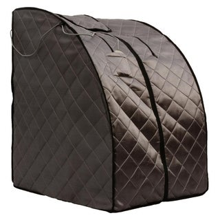 Rejuvinator Portable Personal Sauna with FAR Infrared Carbon Panels, Heated Floor Pad, Canvas Chair