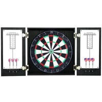 Winchester Black Dartboard and Cabinet Set