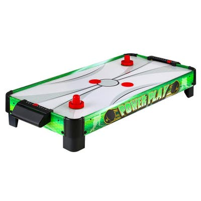 Power Play 40-in Portable Table Top Air Hockey - Green