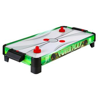 Link to Power Play 40-in Portable Table Top Air Hockey - Green Similar Items in Billiards & Pool