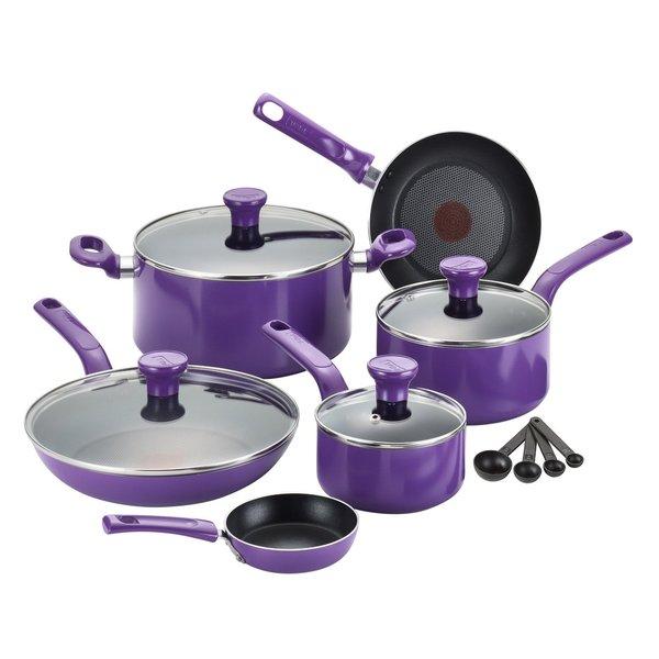 Shop T Fal Excite Purple Non Stick 14 Piece Cookware Set