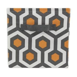 Coyote Orange 11 x 10.75 Storage Bin with Handle