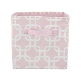 Pink Geo 11 x 10.75 Storage Bin with Handle